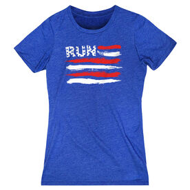 Women's Everyday Runners Tee - Run For The Red White and Blue