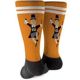 Running Printed Mid-Calf Socks - Pilgrim Runner