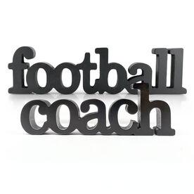 Football Coach Wood Words