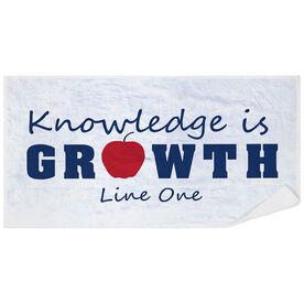 Personalized Premium Beach Towel - Teacher Knowledge is Growth