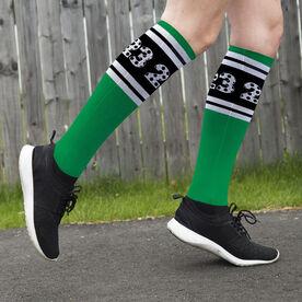 Soccer Printed Knee-High Socks - Custom Numbers