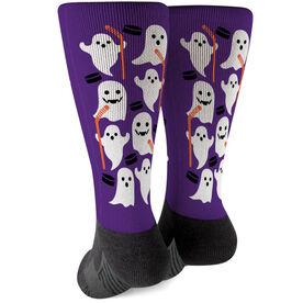 Hockey Printed Mid-Calf Socks - Hockey Ghosts