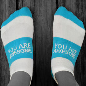 Socrates® Woven Performance Sock You Are Awesome (Teal)