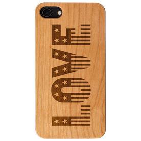 Engraved Wood IPhone® Case - Patriotic Love