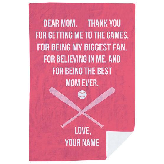 Baseball Premium Blanket - Dear Mom Heart