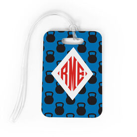 Cross Training Bag/Luggage Tag - Personalized Cross Training Pattern Monogram