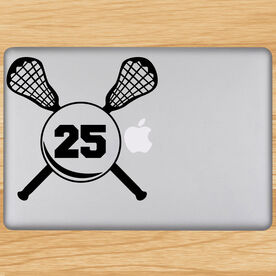 Lacrosse Crossed Sticks Removable ChalkTalkGraphix Laptop Decal