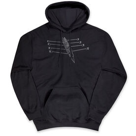 Crew Hooded Sweatshirt - Crew Row Team Sketch