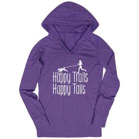 Women's Running Lightweight Performance Hoodie - Happy Trails Happy Tails