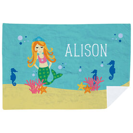 Personalized Premium Blanket - Mermaid