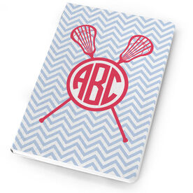 Girls Lacrosse Notebook Monogram