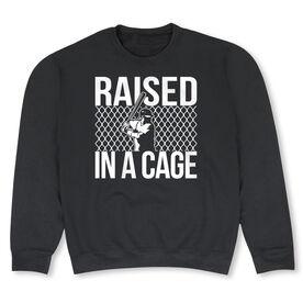 Baseball Crew Neck Sweatshirt - Raised in a Cage