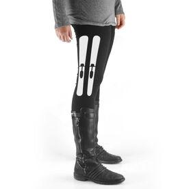 Skiing High Print Leggings Skis