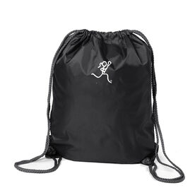 Lacrosse Girl (Stick Figure-no word) Sport Pack Cinch Sack