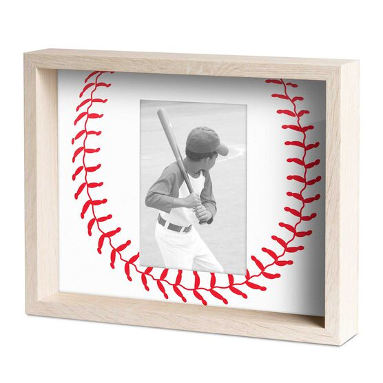 A Unique Custom Baseball Gift Baseball Boxscore Printed on Restored Baseball Leather