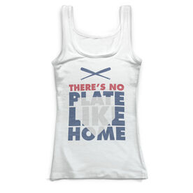 Baseball Vintage Fitted Tank Top - There's No Plate Like Home
