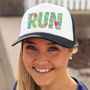 Running Trucker Hat - Run Floral