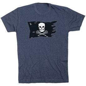Guys Lacrosse Short Sleeve T-Shirt - Lax Pirate Flag