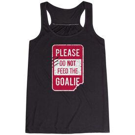 Women's Flowy Racerback Tank Top - Don't Feed The Goalie