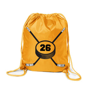 Personalized Hockey Number Sport Pack Cinch Sack