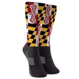 Guys Lacrosse Printed Mid-Calf Socks - Maryland