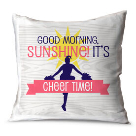 Cheerleading Throw Pillow Good Morning Sunshine It's Cheer Time