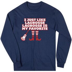 Guys Lacrosse Long Sleeve T-Shirt - Lacrosse's My Favorite