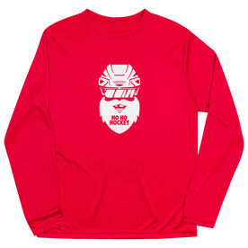 Hockey Long Sleeve Performance Tee - Ho Ho Santa Face