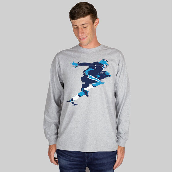 Football Tshirt Long Sleeve In the Blur of A Moment