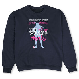 Softball Crew Neck Sweatshirt - This Princess Wears Cleats