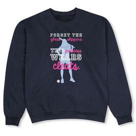 Softball Crew Neck Sweatshirt - This Princess Wears Cleats