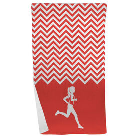Running Beach Towel Runner Girl Chevron