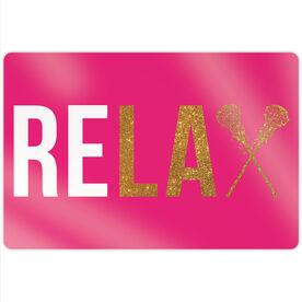 "Girls Lacrosse 18"" X 12"" Aluminum Room Sign - Relax"