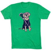 Girls Lacrosse Short Sleeve T-Shirt - Lily The Lacrosse Dog