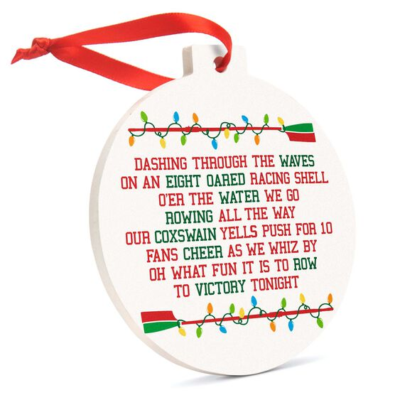 Crew Round Ceramic Ornament - A Rower's Jingle All the Way