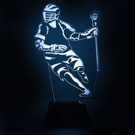 Guys Lacrosse Acrylic LED Lamp Player