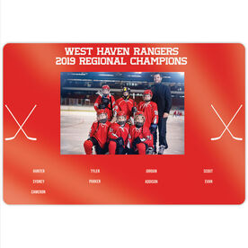 "Hockey 18"" X 12"" Aluminum Room Sign - Team Photo With Roster"