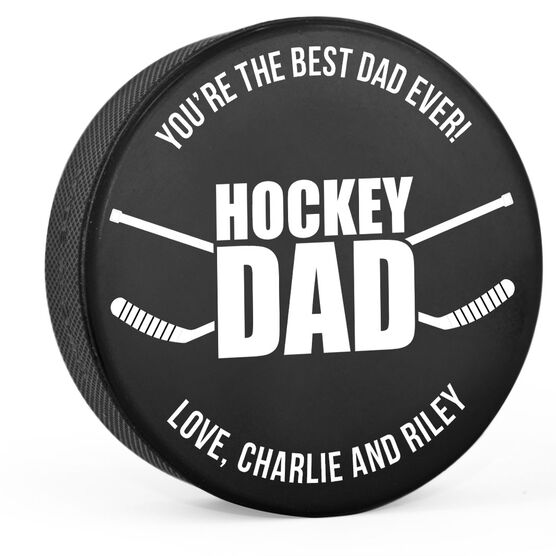 Personalized Hockey Puck - Hockey Dad