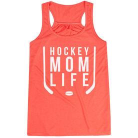 Hockey Flowy Racerback Tank Top - Hockey Mom Life