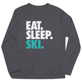 Skiing & Snowboarding Long Sleeve Performance Tee - Eat. Sleep. Ski.