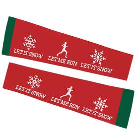 Running Printed Arm Sleeves - Let It Snow, Let Me Run