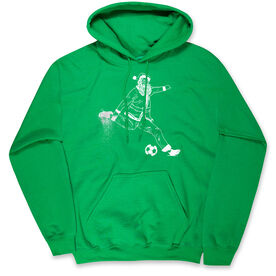 Soccer Hooded Sweatshirt - Santa Player