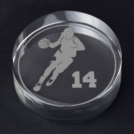 Basketball Personalized Engraved Crystal Gift - Personalized Silhouette (Female)