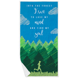Running Premium Beach Towel - Into the Forest Male