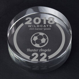 Soccer Personalized Engraved Crystal Gift - Custom Team Award