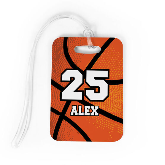 Basketball Bag/Luggage Tag - Personalized Texture Name And Number
