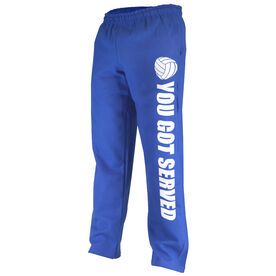 Volleyball Fleece Sweatpants You Got Served with Volleyball