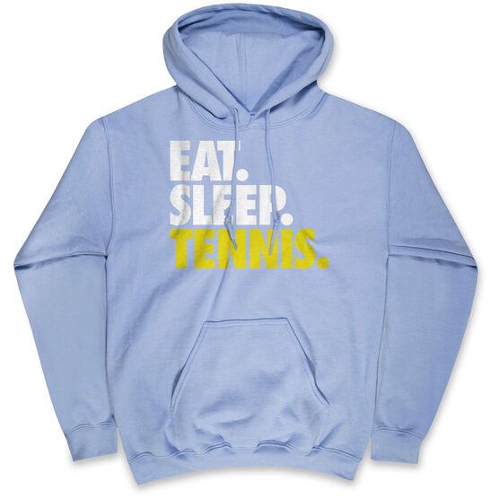 Tennis Hooded Sweatshirt - Eat. Sleep. Tennis.