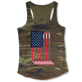 Hockey Camouflage Racerback Tank Top - American Flag