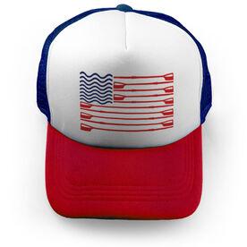 Crew Trucker Hat American Flag